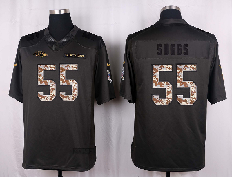 Baltimore Ravens 55 Suggs 2016 Nike Anthracite Salute to Service Limited Jersey
