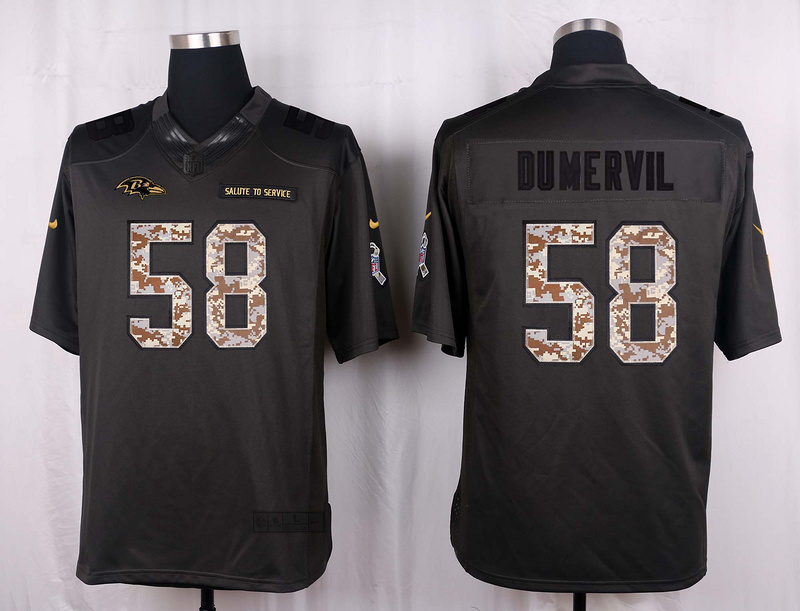 Baltimore Ravens 58 Dumervil 2016 Nike Anthracite Salute to Service Limited Jersey