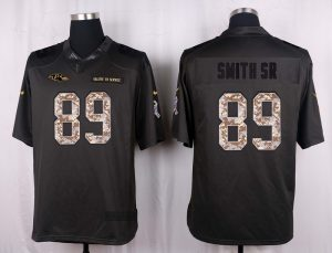Baltimore Ravens 89 Smith sr 2016 Nike Anthracite Salute to Service Limited Jersey