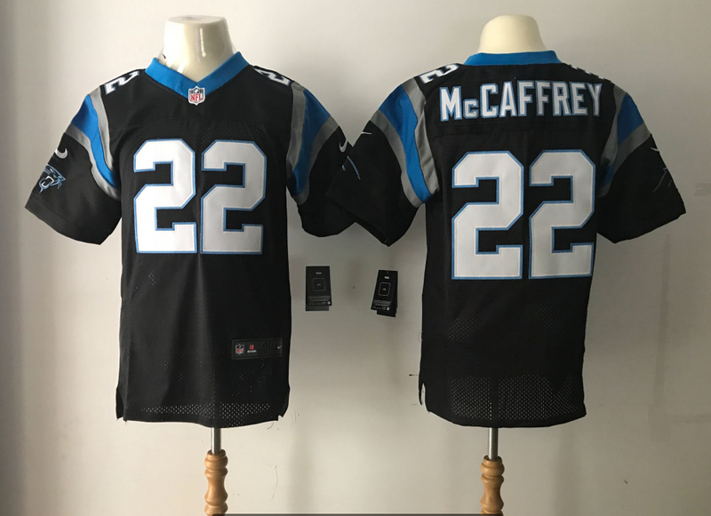 Carolina Panthers 22 Mccaffrey Black Nike Elite Jerseys