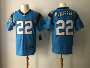 Carolina Panthers 22 Mccaffrey Blue Nike Elite Jerseys