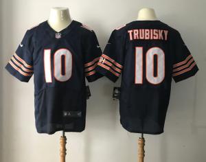 Chicago Bears 10 Trubisky Blue Nike Elite Jerseys