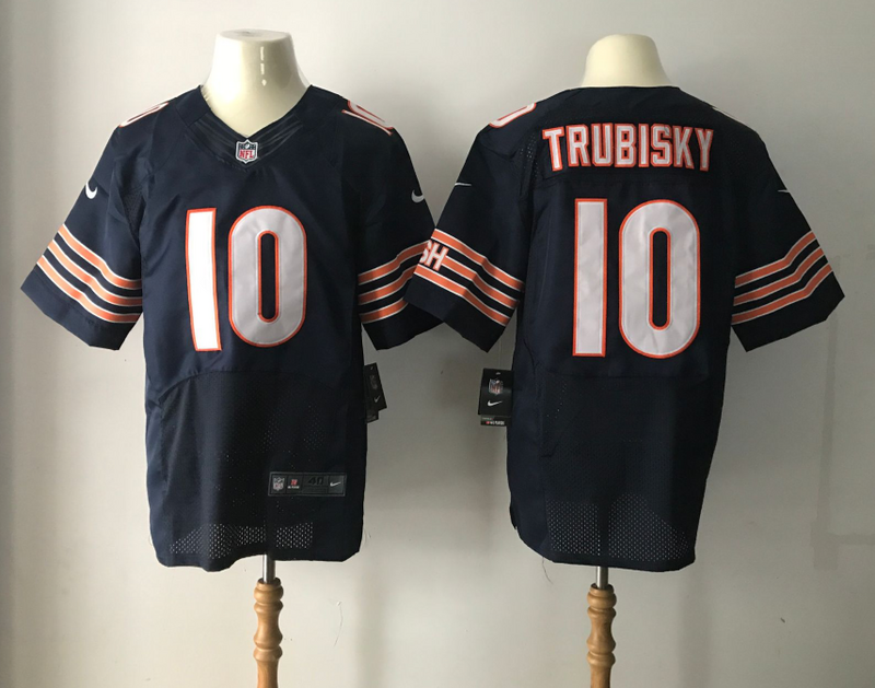 Chicago Bears 10 Trubisky Blue Nike Elite Jerseys
