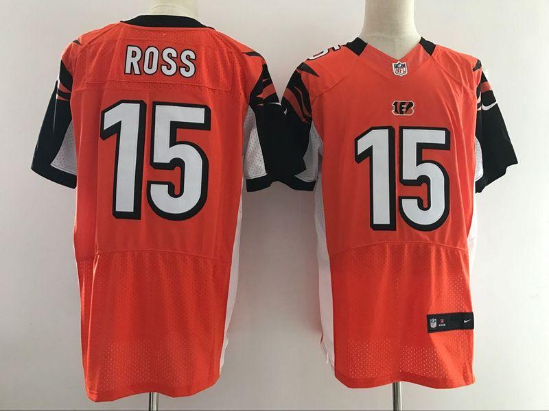Cincinnati Bengals 15 Ross Orange Nike Elite Jerseys