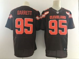 Cleveland Browns 95 Garrett Brown Nike Elite Jerseys