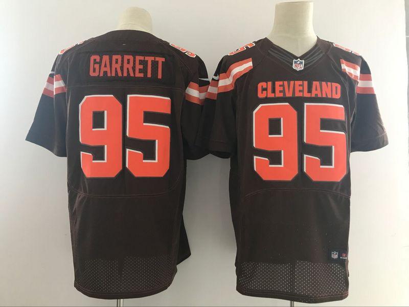 Cleveland Browns 95 Garrett Brown Nike Elite Jerseys