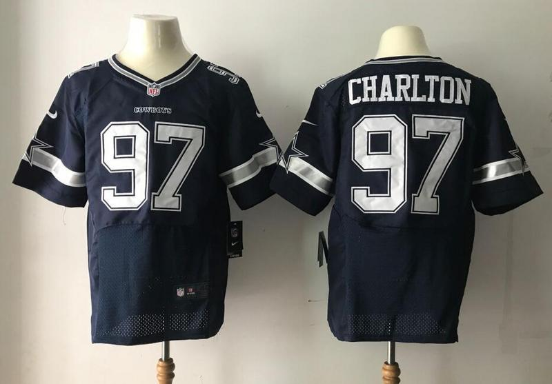 Dallas Cowboys 97 Charlton Blue Nike Elite Jerseys
