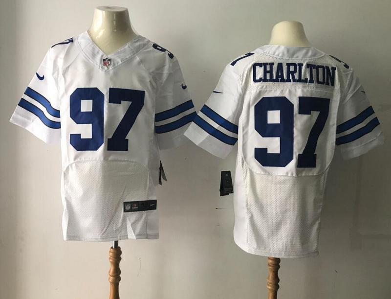 Dallas Cowboys 97 Charlton White Nike Elite Jerseys