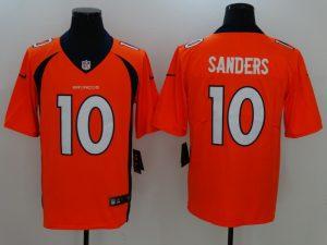 Denver Broncos 10 Sanders Orange Nike Vapor Untouchable Limited Jersey