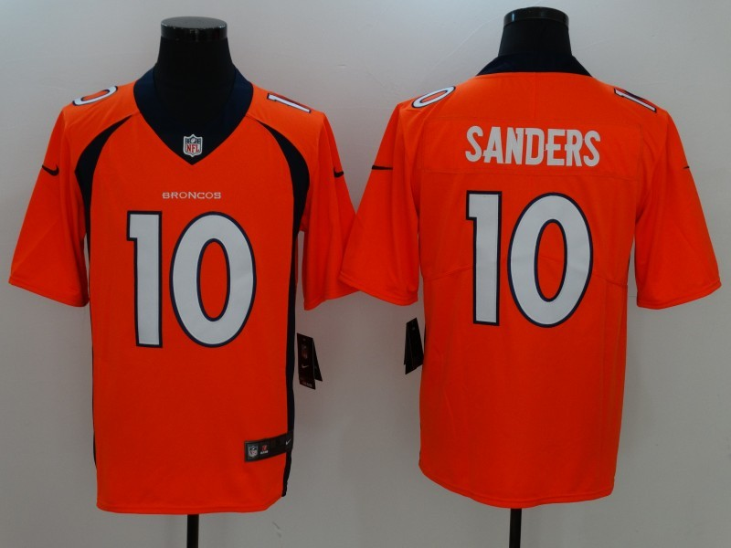 Denver Broncos 10 Sanders Orange Nike Vapor Untouchable Limited Jersey