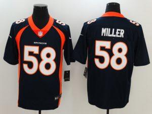 Denver Broncos 58 Miller Blue Nike Vapor Untouchable Limited Jersey
