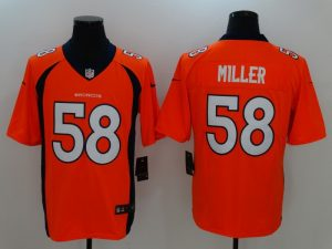 Denver Broncos 58 Miller Orange Nike Vapor Untouchable Limited Jersey