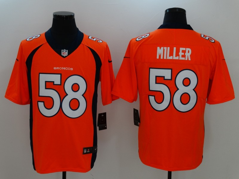 Denver Broncos 58 Miller Orange Nike Vapor Untouchable Limited Jersey