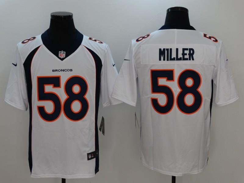 Denver Broncos 58 Miller White Nike Vapor Untouchable Limited Jersey