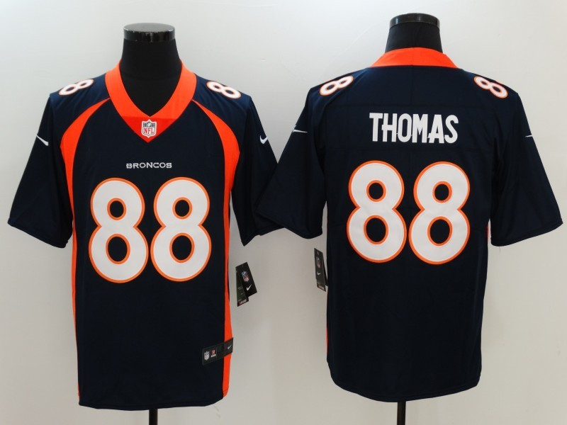Denver Broncos 88 Thomas Blue Nike Vapor Untouchable Limited Jersey