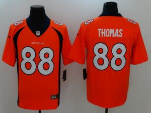 Denver Broncos 88 Thomas Orange Nike Vapor Untouchable Limited Jersey