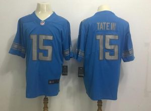 Detroit Lions 15 Tateiii Blue 2017 Nike Rush Limited Jerseys
