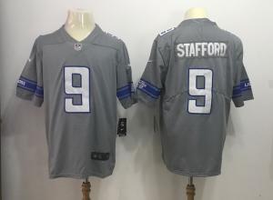 Detroit Lions 9 Matthew Stafford Grey Rush Limited Jerseys