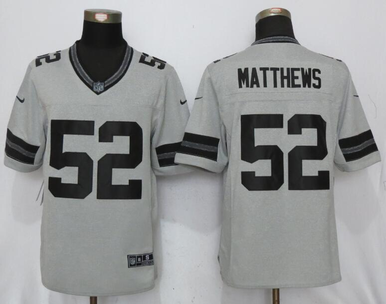 Green Bay Packers 52 Matthews Nike Gridiron Gray II New Nike Limited Jersey