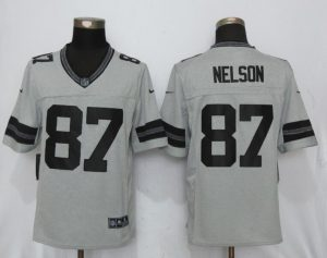 Green Bay Packers 87 Nelson Nike Gridiron Gray II New Nike Limited Jersey