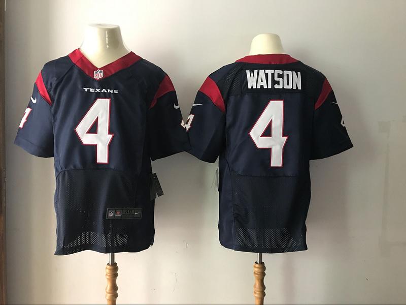 Houston Texans 4 Watson Blue Elite 2017 Nike Jerseys