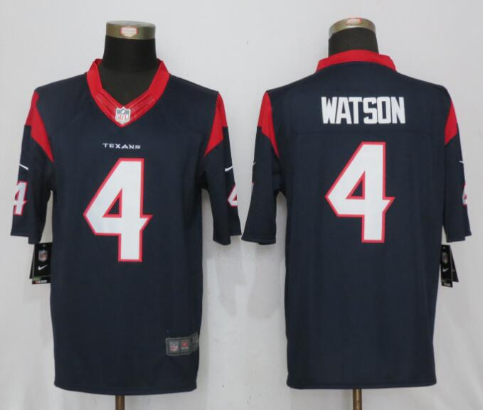 Houston Texans 4 Watson Blue New Nike Limited Jerseys