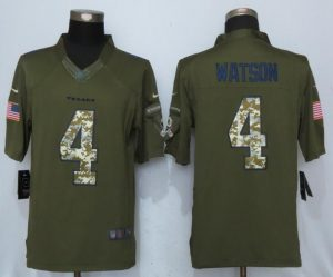 Houston Texans 4 Watson Green Salute To Service New Nike Limited Jersey