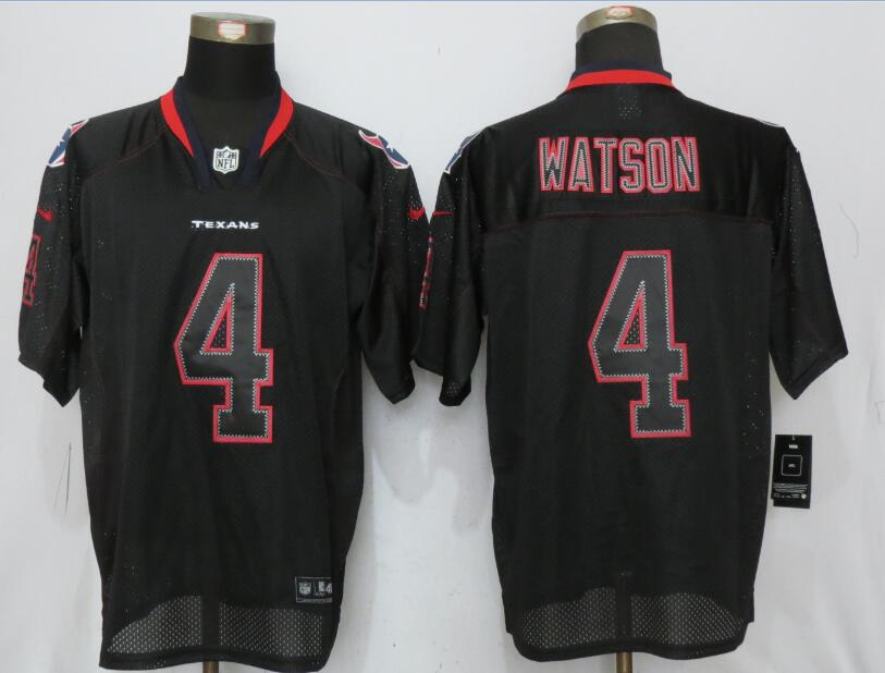 Houston Texans 4 Watson Lights Out Black Nike Elite Jerseys