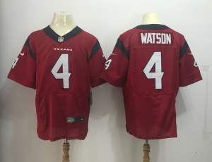 Houston Texans 4 Watson Red Nike Elite Jerseys