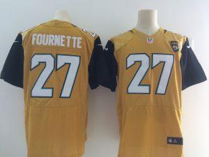 Jacksonville Jaguars 27 Fournette Yellow Elite Nike Elite Jerseys