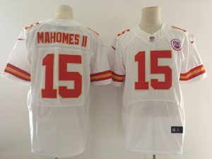 Kansas City Chiefs 15 Mahomes ii White Nike Elite Jerseys