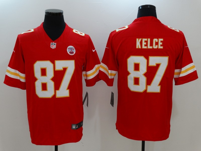 Kansas City Chiefs 87 Kelce Red Nike Vapor Untouchable Limited Jersey