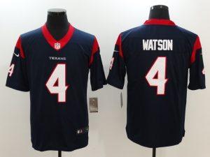 Men Houston Texans 4 Watson Blue Nike Vapor Untouchable Limited Jersey