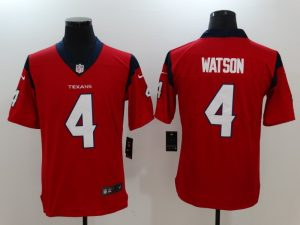 Men Houston Texans 4 Watson Red Nike Vapor Untouchable Limited Jersey