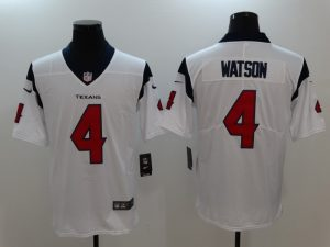 Men Houston Texans 4 Watson White Nike Vapor Untouchable Limited Jersey