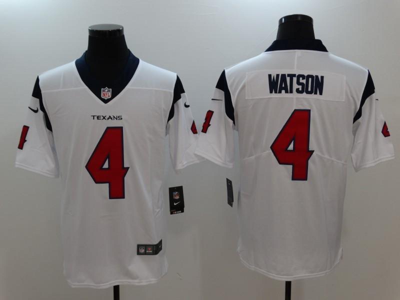 Men Houston Texans 4 Watson White Nike Vapor Untouchable Limited Jersey