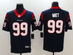 Men Houston Texans 99 Watt Blue Nike Vapor Untouchable Limited Jersey