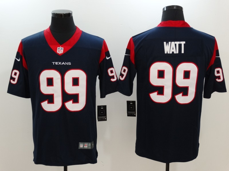 Men Houston Texans 99 Watt Blue Nike Vapor Untouchable Limited Jersey