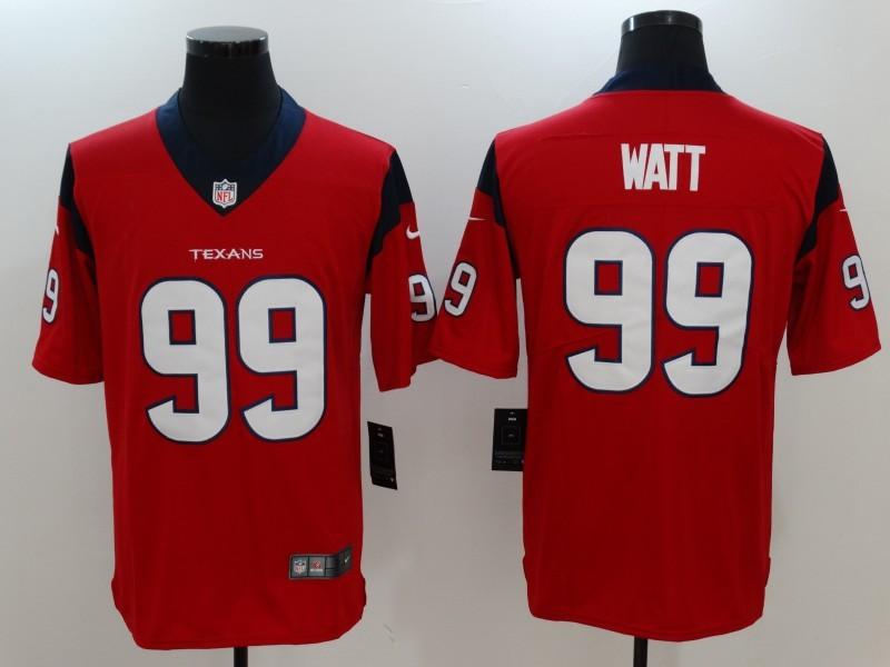 Men Houston Texans 99 Watt Red Nike Vapor Untouchable Limited Jersey