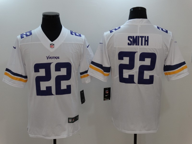 Minnesota Vikings 22 Smith White Nike Vapor Untouchable Limited Jersey
