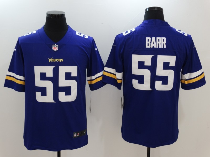 Minnesota Vikings 55 Barr Purple Nike Vapor Untouchable Limited Jersey
