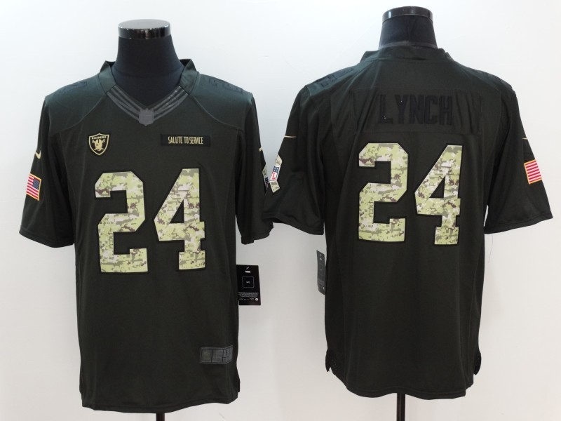 Oakland Raiders 24 Lynch Anthracite Salute To Service Limited Jersey