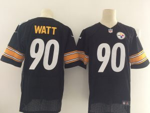 Pittsburgh Steelers 90 Watt Black Nike Elite Jerseys