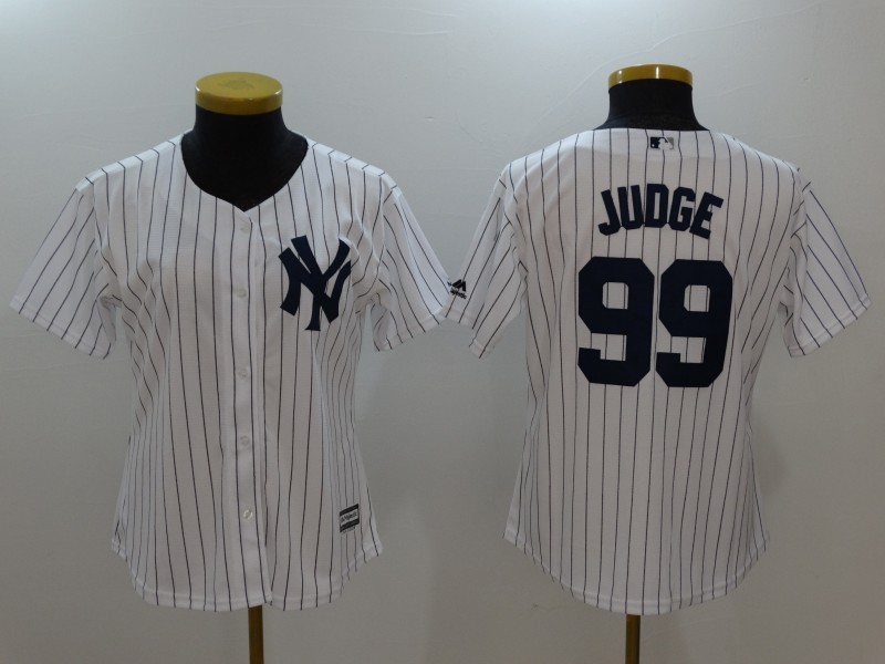 Womens 2017 MLB New York Yankees 99 Judge White Jerseys