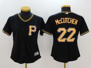 Womens 2017 MLB Pittsburgh Pirates 22 Mccutchen Black Jerseys