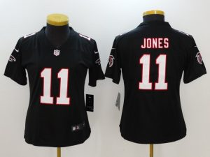Womens Atlanta Falcons 11 Jones Black Nike Vapor Untouchable Limited Jersey