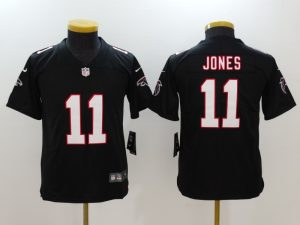 Youth Atlanta Falcons 11 Jones Black Nike Vapor Untouchable Limited Jersey