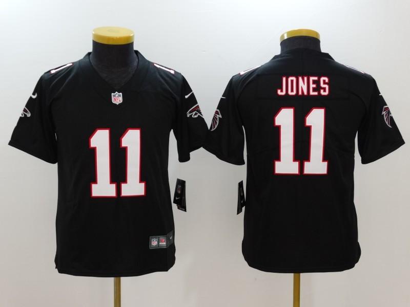 Youth Atlanta Falcons 11 Jones Black Nike Vapor Untouchable Limited Jersey