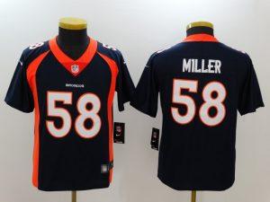 Youth Denver Broncos 58 Miller Blue Nike Vapor Untouchable Limited Jersey