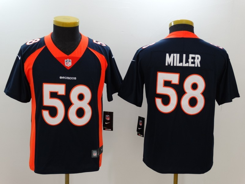 Youth Denver Broncos 58 Miller Blue Nike Vapor Untouchable Limited Jersey
